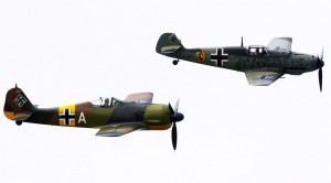 This Just Keeps On Getting Better. This Rare FW 190 Is Joined By A BF 109, Mustang AND Jug