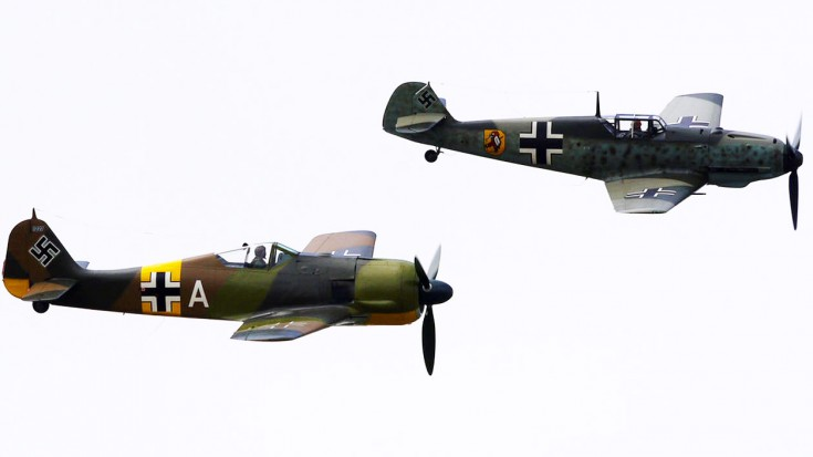 This Just Keeps On Getting Better. This Rare FW 190 Is Joined By A BF 109, Mustang AND Jug | World War Wings Videos