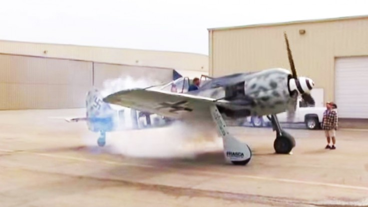 Fw 190 Startup With Backfire | World War Wings Videos