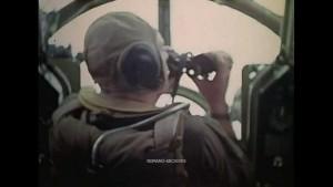 Zeros Attack B-29 Formation Over Fujiyama in 1945