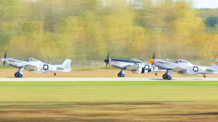 20 P-51 Mustangs Form A Huge '51'- You Have To See And Hear It! | World War Wings Videos