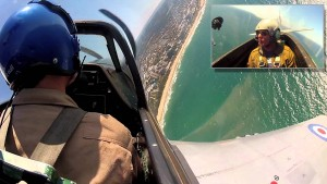 P-51 Mustang Cockpit View Over Beautiful Ocean