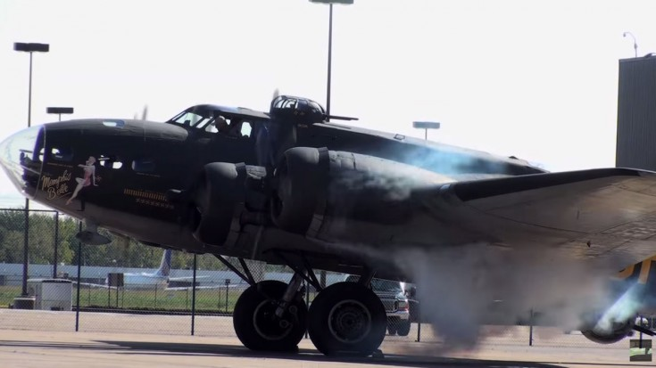B17 Flying Fortress Memphis Belle Startup and Take off | World War Wings Videos