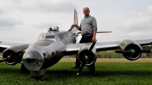 19 Ft. B-17 RC Plane Has Some Mid-Flight Trouble