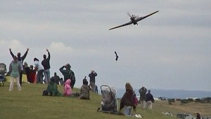 Awesome Hawker Hurricane Low Flypast