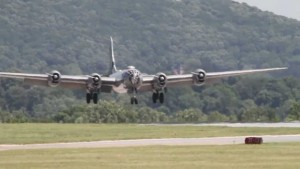 B-29 Superfortress 'Fifi' Making A High Crosswind Landing
