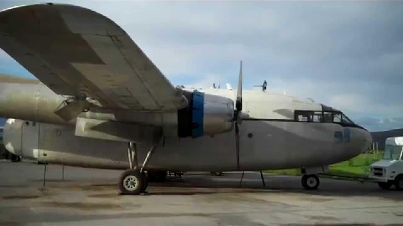 C119 Fairchild Flying Boxcar in Palmer, AK - Engine Start ...