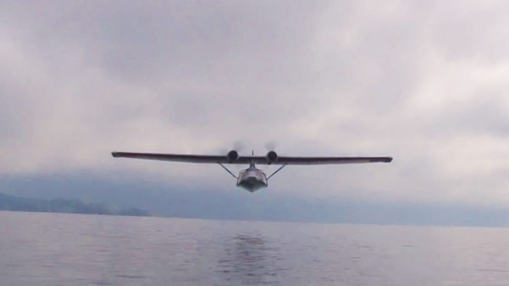 Catalina Buzzes The Ever Living Daylights Out Of Boaters | World War Wings Videos