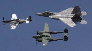 Mustang, Lightning, and Raptor Heritage Flight