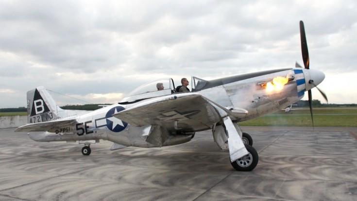 P-51 Mustang – Flames on Start Up Rolls-Royce Merlin – Flyover | World War Wings Videos