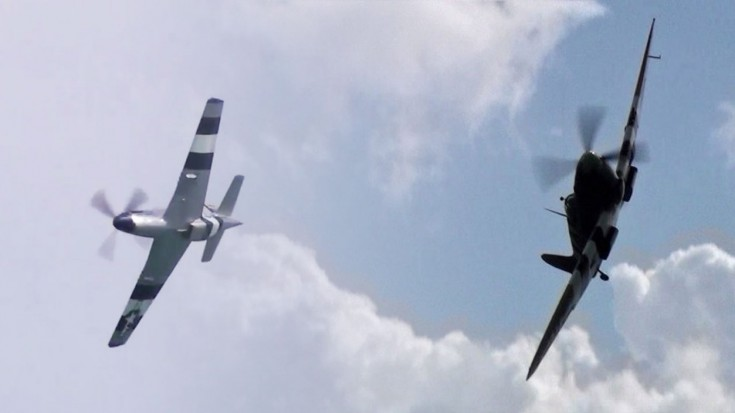 Whistle Standoff: Mustang VS Spitfire | World War Wings Videos