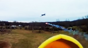 They Strapped Fireworks To An RC Corsair And Had  A Dogfight!