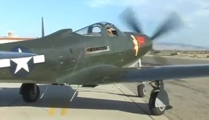 Restored WWII P-63 Kingcobra Fighter Flight Demo