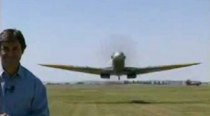 Low-Flying Spitfire Frightens Reporter