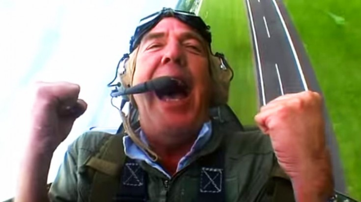 Top Gear Guys Lose It When They Get A Ride In Their Favorite Fighter   World War Wings Videos