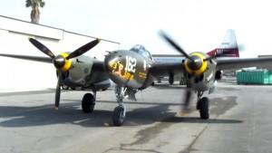 """P-38 Engine Startup """"Skidoo"""""""