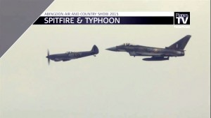 A Spitfire And A Typhoon Face Off In The Air!