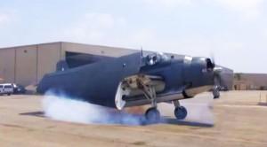 TBM Avenger Firing Up Her Newly Restored Engine