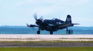 Pilot Entertaining Spectators With A Corsair: Crisp Footage!