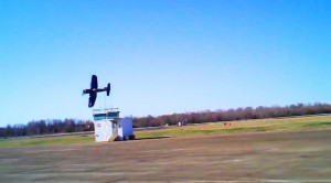 Corsair Pilot Buzzes A Small Tower, Meaning He's Really Low!