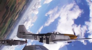 First Person View Of 3 Mustangs Doing A Loop Together-Check Out That Proximity
