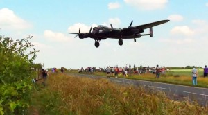 On Approach: Avro Lancaster Coming In Low And Loud