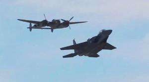 Lightning And Eagle Fly Shoulder To Shoulder: Aviation At Its Finest