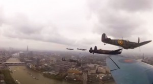Multiple Angles From Aboard The Avro Lancaster: Fly-Past Over London