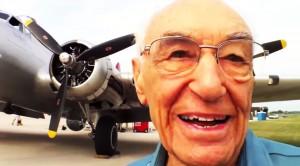 Hilarious B-17 Pilot Recalls Almost Crashing Because Of Cows