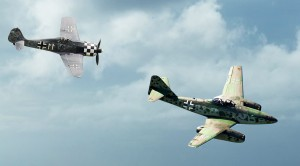 One Of A Kind Flight: Me 262 And Fw 190  Go Up Together