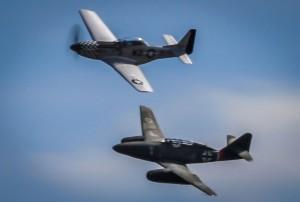 A Rare Sight: P-51 Alongside An Me-262