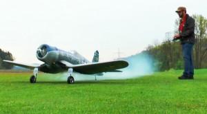 Choppy Landing: Giant RC Corsair Almost Loses It