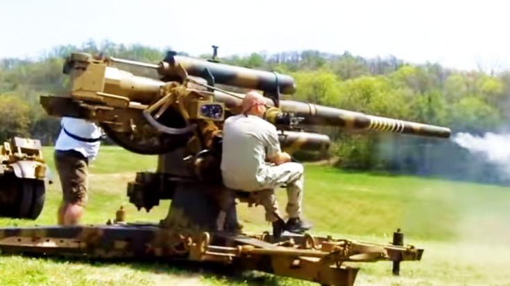 Hell From Below: Firing A German Flak 36 | World War Wings Videos