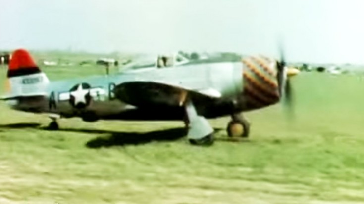 Actual WWII Thunderbolts: Restored And Colorized Footage - World War