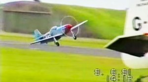 P-51 Mustang Lands In Strong Crosswind–Nearly Loses It