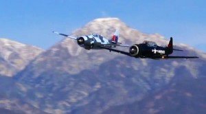 Stunning Lowpass Of A Wildcat and Texan: Just Listen To That Low Roar