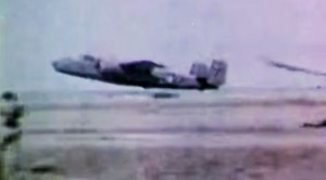 Bone Chilling WWII Footage Of Damaged B-25 Mitchell Crash Landing