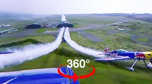 360° Experience: Formation Flying Through A Hangar