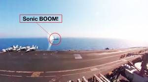 F/A-18 Breaks Speed Of Sound Over Water And It's Absolutely Awesome