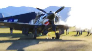 This Guy Can Barely Keep The Camera From Shaking As A P-40 Kittyhawk Test Fires For The Crowd