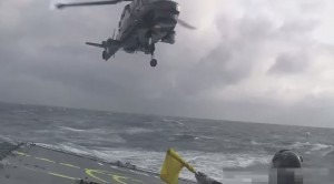 Helicopter Has To Land On Ship During Raging Sea- Hold Steady, No Room For Error!