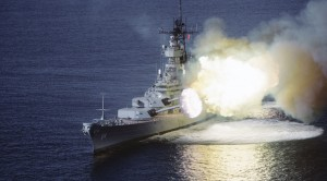 USS Missouri Firing Her Big Guns Sounds Out Of This World