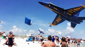 Blue Angel Low Pass Wreaks Havoc On The Beach