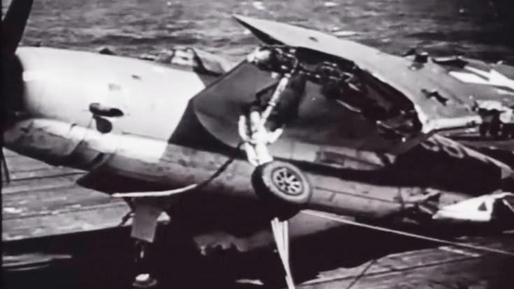 Typhoon Tosses Planes Like Matchsticks: Intense WWII Footage | World War Wings Videos