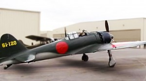 Extremely RARE Japanese Zero- Startup And Flight