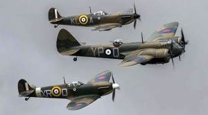 These Spitfires Escort The Only Flying Blenheim In The World