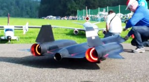 Massive RC SR-71 Almost Crashes Right On Takeoff–So Close