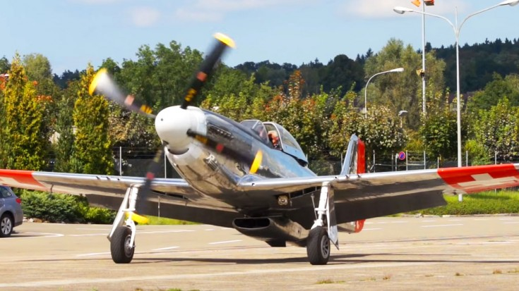 P-51 Flies With F/A-18 Then Weaves Between Trees In This Heart Pumping Clip | World War Wings Videos