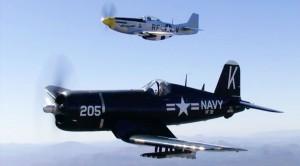Incredible Air-To-Air Video Of A Corsair And Mustang