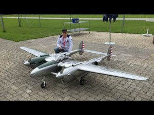 He Has A Huge RC P-38 Lightning, What He Does With Next Is Amazing…